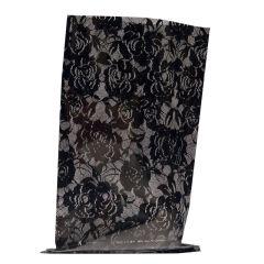Transparent presentpåse Chantilly svart