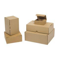 Bruna självlåsande lådor